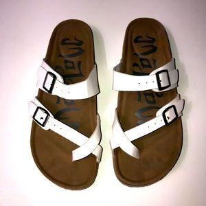 Mad Love White Strappy Sandals